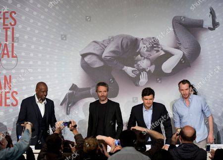Forest Whitaker, Jerome Salle, Orlando Bloom, Conrad Kemp From left, actor Forest Whitaker, director Jerome Salle, actor Orlando Bloom and actor Conrad Kemp arrive for a press conference for the film Zulu at the 66th international film festival, in Cannes, southern France