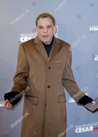 French actor Denis Lavant arrives at the 38th French Cesar Awards Ceremony, in Paris