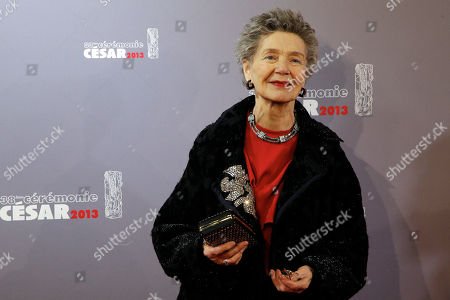 French actress Emmanuelle Riva arrives at the 38th French Cesar Awards Ceremony, in Paris