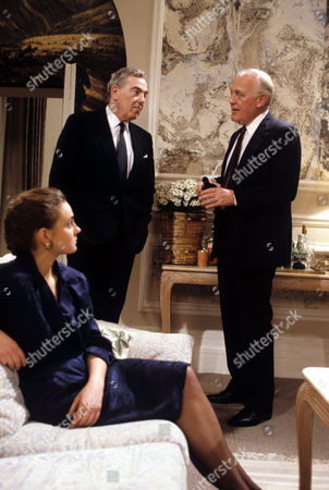 Sarah Winman with Jack Hedley (left) and Joss Ackland in 'A Quiet Conspiracy'
