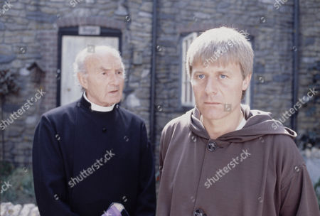 Maurice Denham (left) and Martin Jarvis in 'The Black Tower'