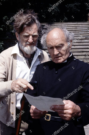 John Franklyn-Robbins (left) and Maurice Denham in 'The Black Tower'
