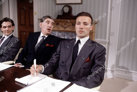 James Villiers (centre) and Peter Woodward (right) in 'Anything More Would Be Greedy'