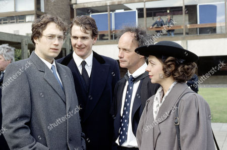 Martin Wenner, Robert Bathurst,Geoffrey Beevers and  Tessa Peake-Jones in 'Anything More Would Be Greedy'