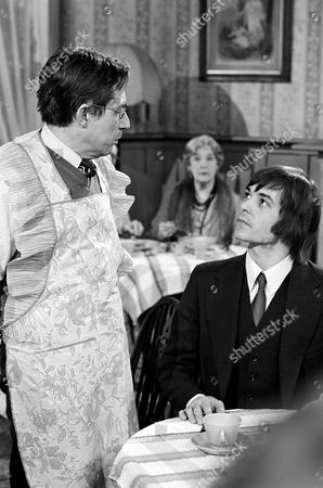Barry Evans  and  Timothy Bateson (left) in 'Doctor At Large'  Episode : 'No Ill Feeling'