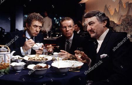 L-R.Roy Marsden ,Douglas Lambert ,Peter Jeffrey in 'Inside Story'