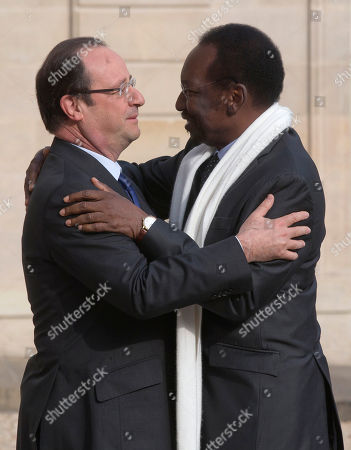 Francois Hollande, Dioncounda Traore France's President Francois Hollande, left, greets Mali's President Dioncounda Traore, right, at the Elysee Palace