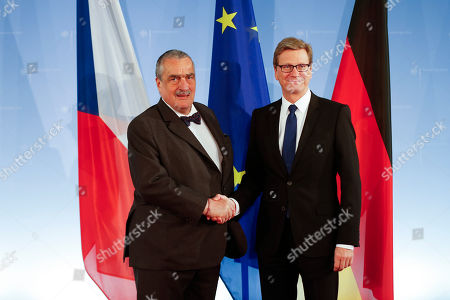 Guido Westerwelle, Karel Schwarzenberg German Foreign Minister Guido Westerwelle, right, welcomes his Czech counterpart Karel Schwarzenberg at the Foreign Ministry in Berlin, Germany