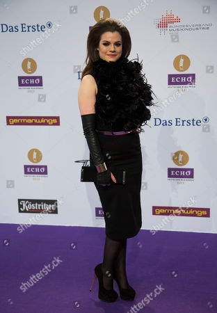 Stock Photo of Elisa Schmidt German singer Elisa Schmidt arrives for the German music award Echo ceremony in Berlin, Germany