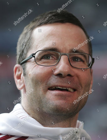 Stock Photo of Michael Wiesinger Nuremberg head coach Michael Wiesinger arrives for the German first division Bundesliga soccer match between FC Bayern Munich and 1. FC Nuremberg, in Munich, Germany