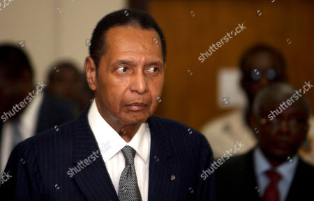 """Jean-Claude Duvalier Former Haitian dictator Jean-Claude Duvalier, known as """"Baby Doc,"""" attends his hearing at court in Port-au-Prince, Haiti. Two leading advocacy groups on condemned the sluggish pace of a criminal case against former Haitian dictator Jean-Claude Duvalier"""