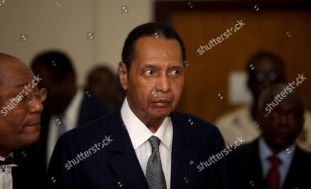 """Jean-Claude Duvalier Former Haitian dictator Jean-Claude Duvalier, known as """"Baby Doc,"""" attends his hearing at court in Port-au-Prince, Haiti, . Duvalier appeared in court Thursday after three times shunning a summons for a hearing on whether he should be charged with human rights abuses during his brutal 1971-1986 regime"""