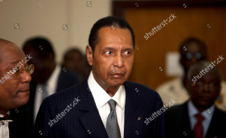 """Jean-Claude Duvalier Former Haitian dictator Jean-Claude Duvalier, known as """"Baby Doc,"""" attends his hearing at court in Port-au-Prince, Haiti. Duvalier, the self-proclaimed """"president for life"""" of Haiti whose corrupt and brutal regime sparked a popular uprising that sent him into a 25-year exile, died of a heart attack, his attorney said. He was 63"""