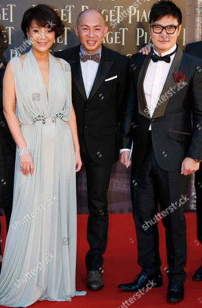 Chin Ka Lok, Dante Lam, Elaine Jin Hong Kong actor Chin Ka Lok, right, director Dante Lam, center, and Taiwanese actress Elaine Jin pose on the red carpet of the 32nd Hong Kong Film Awards in Hong Kong