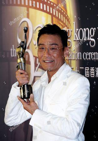 Tony Leung Ka Fai Hong Kong actor Tony Leung Ka Fai poses after winning the Best Actor award for his role in the movie ' ColdWar ' at the 32nd Hong Kong Film Awards in Hong Kong