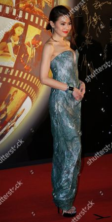 Chrissie Chau Hong Kong actress Chrissie Chau poses for photographers on the red carpet of the 32nd Hong Kong Film Awards in Hong Kong