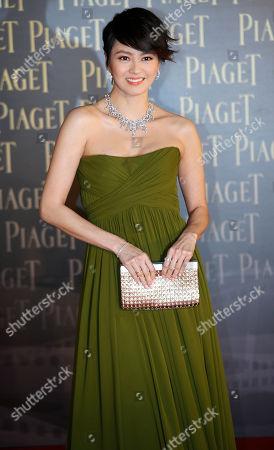 Gigi Leung Hong Kong actress Gigi Leung poses on the red carpet of the 32nd Hong Kong Film Awards in Hong Kong