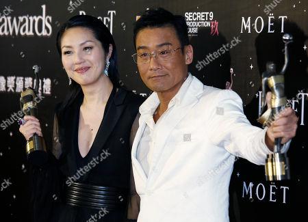 Miriam Yeung, Tony Leung Ka Fa Hong Kong actress Miriam Yeung, left, and Actor Tony Leung Ka Fai pose after winning the Best Actress award and Best Actor awards at the 32nd Hong Kong Film Awards in Hong Kong