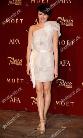 Gigi Leung Hong Kong singer actress Gigi Leung poses after perform at the Asian Film Awards as part of the 37th Hong Kong International Film Festival in Hong Kong