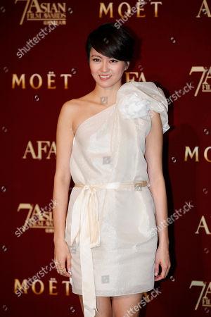 Gigi Leung Hong Kong singer actress Gigi Leung poses after performing at the Asian Film Awards as part of the 37th Hong Kong International Film Festival in Hong Kong