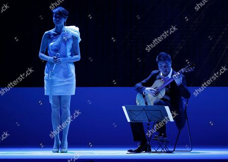Gigi Leung Hong Kong actress and singer Gigi Leung, left, perform at the Asian Film Awards in Hong Kong