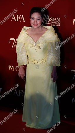 Stock Image of Nora Aunor The Philippines actress Nora Aunor poses on the red carpet at the Asian Film Awards as part of the 37th Hong Kong International Film Festival in Hong Kong