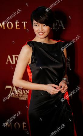 Gigi Leung Hong Kong actress Gigi Leung poses on the red carpet at the Asian Film Awards as part of the 37th Hong Kong International Film Festival in Hong Kong