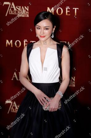 Qin Lan Chinese actress Qin Lan poses on the red carpet at the Asian Film Awards as part of the 37th Hong Kong International Film Festival in Hong Kong