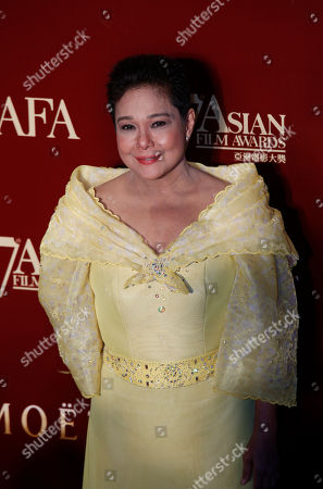 Nora Aunor The Philippines actress Nora Aunor poses on the red carpet at the Asian Film Awards as part of the 37th Hong Kong International Film Festival in Hong Kong