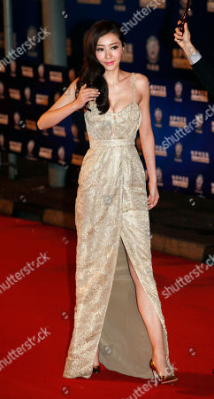 Stock Picture of Lynn Hung Chinese actress-model Lynn Hung arrives at the Huading Awards in Hong Kong