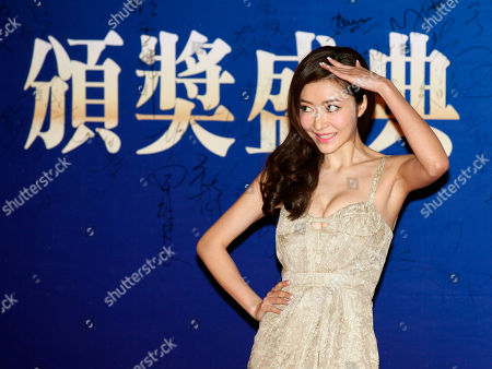 Stock Photo of Lynn Hung Chinese actress-model Lynn Hung poses on the red carpet at the Huading Awards in Hong Kong