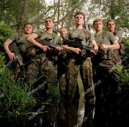 'Soldier Soldier'  - (L to R) Danny Cunningham, Chris Gascoyne, Thomas Craig, Ben Nealon, Jonathan Guy Lewis and Ian Curtis
