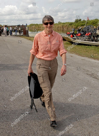 Sally Jewell Secretary of the Interior Sally Jewell smiles as she leaves the Loxahatchee National Wildlife Refuge in Palm Beach County, Fla., . Jewell took over the department from Ken Salazar earlier this month. Her stop Wednesday in South Florida is one of her first official trips and highlights the importance of Everglades restoration to the agency responsible for national parks and other public lands
