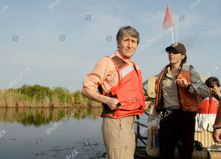 Sally Jewell Secretary of the Interior Sally Jewell, left, adjusts her life jacket as she prepares to tour the Loxahatchee National Wildlife Refuge in Palm Beach County, Fla., . Jewell took over the department from Ken Salazar earlier this month. Her stop Wednesday in South Florida is one of her first official trips and highlights the importance of Everglades restoration to the agency responsible for national parks and other public lands
