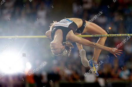 Sweden's Emma Green Tregaro competes in the women's high jump event at the Golden Gala IAAF athletic meeting, in Rome's Olympic stadium