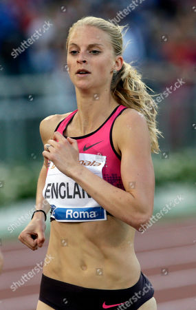Britain's Hannah England competes in the women's 1500m event at the Golden Gala IAAF athletic meeting, in Rome's Olympic stadium
