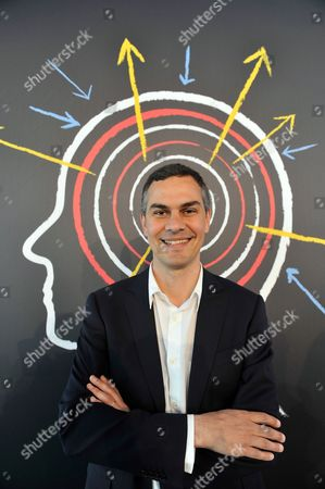 Stock Image of Massimiliano Gioni, Curator of the 55th Venice Biennale of Art, poses for a photograph at the prize-giving ceremony, in Venice, Italy, . Gioni is the youngest curator ever at the world's oldest contemporary art fair - the Venice Biennale