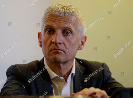 Stock Image of Altagamma Foundation president Andrea Illy, attends a news conference in Milan, Italy, . A study says global sales of luxury goods are off to a slow start in 2013 and aren't expected to match the double-digit growth of the last three years. Consultancy Bain & Co. said Thursday in a report that sales of luxury apparel, accessories, jewelry, cosmetics and art are expected to grow just 4 percent to 5 percent in 2013