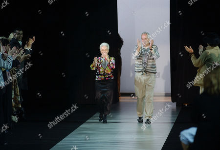 Ottavio Missoni Rosita, left, and Ottavio Missoni take the catwalk after presenting their Spring/Summer 2004 fashion collection, in Milan, Italy. Italian fashion company Missoni says its co-founder, Ottavio Missoni, has died in his home earlier on in northern Italy. Missoni, who was 92, founded the iconic fashion brand of zigzagged-patterned knitwear along with his wife, Rosita, in 1953. The Missonis are a family fashion dynasty, with the couple's children and their offspring involved in expanding the brand