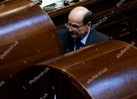 Italian Democratic Party leader Pier Luigi Bersani, approaches the voting booth during the fourth round of voting to elect the nation's new president, in Rome's Lower Chamber, . Italy's polarized Parliament failed in a second day of balloting Friday to elect a president, as the high-profile candidacy of ex-Premier Romano Prodi fell far short of the votes needed. The rebuff deepened the political paralysis gripping the eurozone's third-largest economy. Bersani, who was frustrated in forming a government following inconclusive nationwide elections in February, was humiliated again. He failed to draw enough support outside his bloc to rally behind the widely-respected Prodi, a former European Union commission president