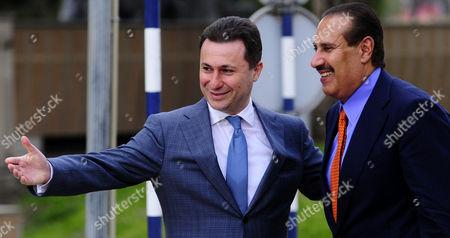 Hamad bin Jassim bin Jaber Al Thani, Nikola Gruevski Qatari Prime Minister Sheikh Hamad bin Jassim bin Jaber Al Thani, right, is welcomed by Macedonian Prime Minister Nikola Gruevski, left, upon his arrival to Skopje, Macedonia, on