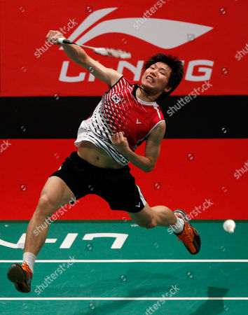 Lee Dong-keun South Korea's Lee Dong-keun smashes against Germany's Dieter Domke during their quarterfinals match of the Sudirman Cup world mixed team badminton championships in Kuala Lumpur, Malaysia