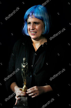 """Paula Markovitch Argentine-born film director Paula Markovitch accepts her Ariel award for best film, for """"El Premio,"""" or """"The Prize"""" at the 55th Ariel Mexican Film Academy Awards in Mexico City, . The Ariel awards recognize excellence in motion picture making, such as acting, directing and screen writing in Mexican cinema"""