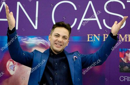 "Cristian Castro Mexican singer Cristian Castro reacts during a photo call to promote his latest album in Mexico City, . Castro presented his album ""Cristian Castro - Primera Fila Vol. 1"" or ""Cristian Castro - First Row Vol. 1"