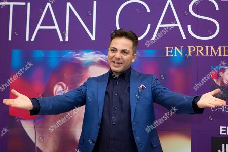 "Cristian Castro Mexican singer Cristian Castro reacts during a photo call to promote his latest album in Mexico City, . Castro presented his album ""Cristian Castro - Primera Fila Vol. 1"" or ""Cristian Castro - Front Row Vol. 1"
