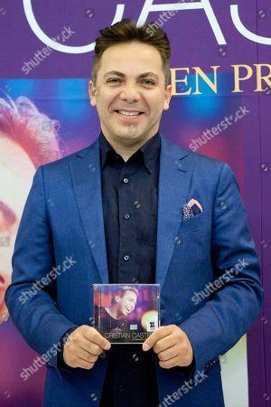 """Cristian Castro Mexican singer Cristian Castro shows his latest album """"Cristian Castro - Primera Fila Vol. 1"""", or """"Cristian Castro - Front Row Vol. 1""""during its presentation in Mexico City"""