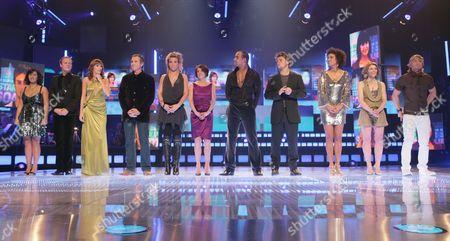 'Soapstar Superstar'  TV - 2007 - Facing the ultimate sing off are: Gemma Atkinson, Antony Cotton, Jane Danson, Tupele Dorgu, Alan Fletcher, Leon Lopez, Mark Furze, Elaine Lordan, Verity Rushworth, Hayley Tamaddon and Matthew Wolfenden.