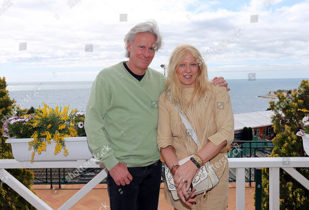 Bjorn Borg, Patricia Ostfeldt Former Swedish tennis player Bjorn Borg, left, and his wife Patricia Ostfeldt, pose for photographers during the Monte Carlo Masters tennis tournament in Monaco