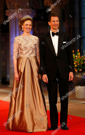 Prince Alois and Princess Sophie of Liechtenstein arrive for a banquet hosted by the Dutch Royal family at the Rijksmuseum, Amsterdam, The Netherlands, . Queen Beatrix has announced she will relinquish the crown on April 30, 2013, after 33 years of reign, leaving the monarchy to her son Crown Prince Willem-Alexander