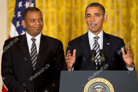Barack Obama, Anthony Foxx, Ray LaHood President Barack Obama announces that he will nominate Charlotte, N.C. Mayor Anthony Foxx, left, to succeed Ray LaHood as the next Transportation Secretary, in the East Room of the White House in Washington